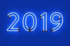 Ano novo 2019 - 3D rendeu a imagem Foto de Stock
