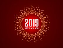 Ano novo 2019 - 3D rendeu a imagem Imagens de Stock