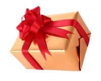 Ano novo da caixa de presente do lado superior Fotografia de Stock Royalty Free