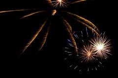 Ano novo da celebração do fogo de artifício Fotos de Stock Royalty Free