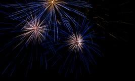 Ano novo da celebração do fogo de artifício Foto de Stock Royalty Free