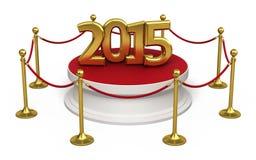 Ano novo 2015 da corda da barreira Fotografia de Stock