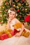 Ano novo da menina fotos de stock royalty free