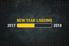 Ano novo da tela que carrega 2018 Foto de Stock Royalty Free