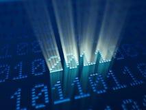 Ano novo de código binário 2011 ilustração do vetor