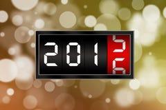 Ano novo de 2016 com fundo defocused Fotografia de Stock Royalty Free