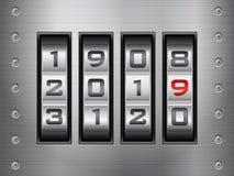 Ano novo de fechamento de combinação ilustração royalty free