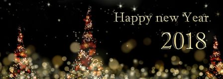 Ano novo 2018 de Hyppy Foto de Stock Royalty Free