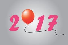 Ano novo de Llustration 2017 no fundo azul Imagem de Stock Royalty Free