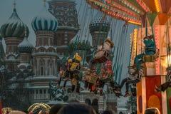 Ano novo de quadrado vermelho de Moscou foto de stock royalty free