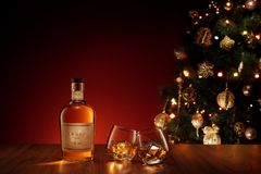 Ano novo de vidro dobro Fotografia de Stock Royalty Free