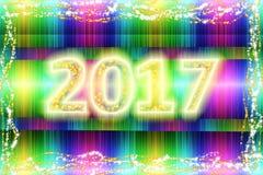 Ano 2017 novo do arco-íris ilustração stock
