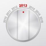 Ano novo do botão Imagem de Stock Royalty Free