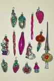 Ano novo do brinquedo do ` s do ano novo Um brinquedo de decoração real para uma árvore de Natal feita do vidro Imagens de Stock