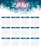 Ano novo do calendário 2016 Ilustração do vetor Fotografia de Stock Royalty Free