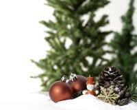 Ano novo do close up da quinquilharia da decoração da bola do Natal fotografia de stock