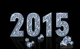 Ano novo do diamante 2015, vetor Imagem de Stock Royalty Free