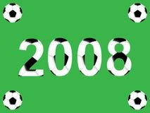 Ano novo do futebol ilustração stock