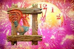 2017 - Ano novo do galo impetuoso no calendário oriental de easter Imagem de Stock Royalty Free