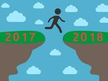 Ano novo 2018 do início ilustração stock