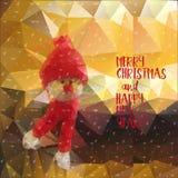 Ano novo do Natal do boneco de neve Fotografia de Stock