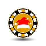 Ano novo do Natal da microplaqueta de pôquer Ilustração do EPS 10 do ícone em um fundo branco a separar facilmente Uso para Web s ilustração stock