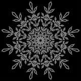 Ano novo do Natal do floco de neve imagem de stock royalty free