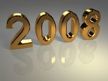 Ano novo do ouro fotografia de stock