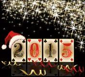 Ano 2015 novo do pôquer Foto de Stock