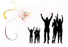 Ano novo do partido Imagens de Stock Royalty Free