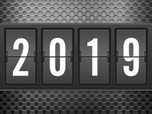 Ano novo do pulso de disparo da aleta ilustração stock