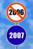 Ano novo do sinal redondo Fotografia de Stock