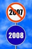 Ano novo do sinal redondo ilustração do vetor