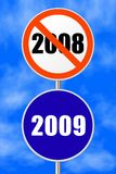 Ano novo do sinal redondo Imagens de Stock
