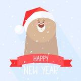 Ano novo do urso Foto de Stock