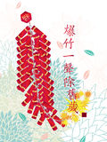 Ano novo dos fogos-de-artifício chineses ilustração royalty free