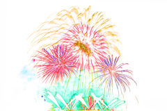 ano novo 2017 dos fogos-de-artifício - fogo de artifício colorido bonito isolado Foto de Stock Royalty Free