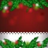 Ano novo e cartão de Natal Foto de Stock Royalty Free