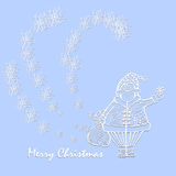 Ano novo e cartão de Natal Imagens de Stock