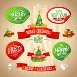 Ano novo e de projetos do Natal coleção. Fotografia de Stock