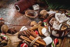 Ano novo e doces do Natal Fotografia de Stock Royalty Free