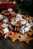 Ano novo e doces do Natal Fotografia de Stock