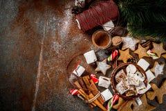 Ano novo e doces do Natal Foto de Stock Royalty Free
