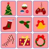 Ano novo e Natal ilustração stock