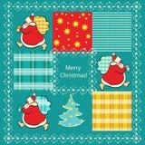 Ano novo e Natal do teste padrão Imagens de Stock Royalty Free