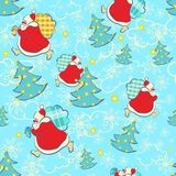 Ano novo e Natal do teste padrão Imagens de Stock