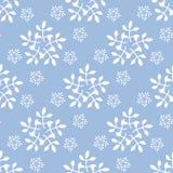 Ano novo e teste padrão sem emenda de Cristmas com flocos de neve ilustração do vetor