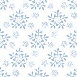 Ano novo e teste padrão sem emenda de Cristmas com flocos de neve ilustração stock
