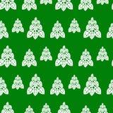 Ano novo e teste padrão sem emenda do Natal com árvore de Natal ilustração do vetor