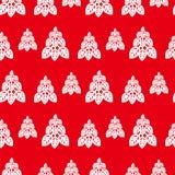 Ano novo e teste padrão sem emenda do Natal com árvore de Natal ilustração royalty free